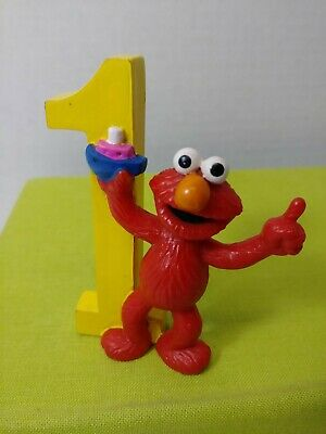 Jim Henson Sesame Street Elmo Cake Topper Number One 1 Pvc