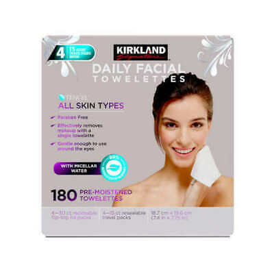 KIRKLAND Signature Micellar Daily Facial Cleansing Towelettes All Skin 180-count