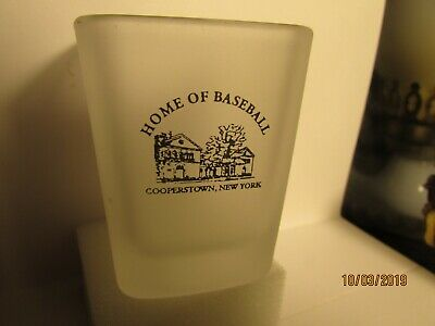 Home of Baseball- Cooperstown ,NY - square shotglass-frosted- mint
