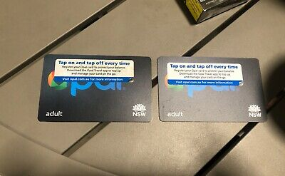 2 unregistered opal cards