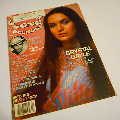 Crystal Gayle Covers Country Song Roundup Magazine April 1978 Hank Williams