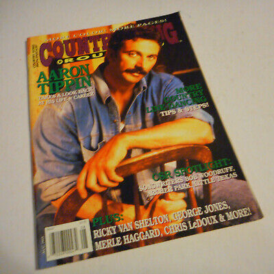 Aaron Tippin Covers Country Song Roundup Magazine August 1995 George Jones