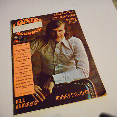 Johnny Paycheck Covers Country Song Roundup Magazine November 1974 Kenny Price
