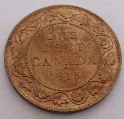 1918 Canada Large Cent Coin. EF NICE GRADE (RJ764)