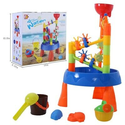 Sand Water Table Kids Toddler Play Toy Outdoor Box Beach Windmill Set Toy USA