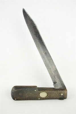 "Antique Mid 19th Century 10.75"" Joseph Haywood & Co. Folding Knife Sheffield"