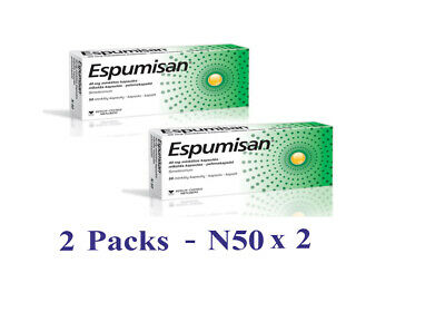 Espumisan 40 mg / 50 Capsules For Gastrointestinal Disorders Meteorism Gases