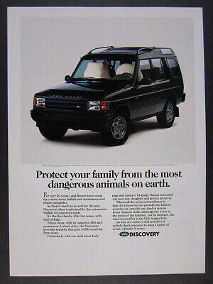 1994 Land Rover Discovery color photo vintage print Ad