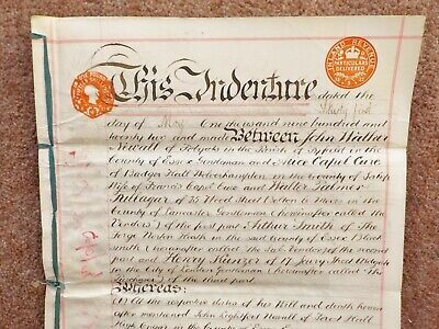 1922 Norton Mandeville High Ongar Essex Vellum Deed Document Indenture