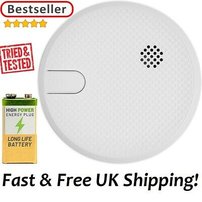 2x Smoke Detector Smoke Alarm - Batteries included Twin Pack Fire Alarm -NEW-