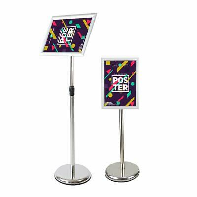 Adjustable Poster Sign Stand, 11 X 17 Inch Heavy Duty Pedestal Floor Standing Si