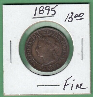 1895 Canadian One Large Cent - Fine