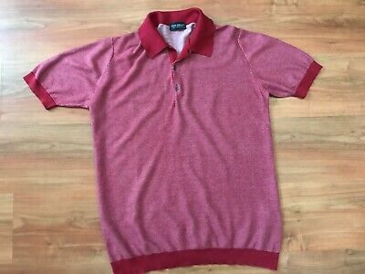 Mens Red JOHN SMEDLEY SEA ISLAND POLO SHIRT (L) *NICE COND*