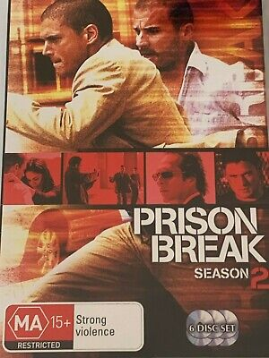 Prison Break Season 2 - Wentworth Miller, Dominic Purcell  DVD Like New