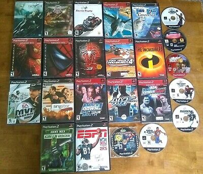 Sony PlayStation 2 Games Lot, PS2 Game Lot Of 24 Final Fantasy, Spiderman...