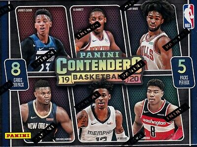 2019-20 Panini Contenders Basketball sealed blaster box 5 pks 8 NBA cards 1 hit