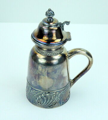 Rockford Quadruple Silver Plate Syrup Creamer 218 Lidded Covered Antique Handle