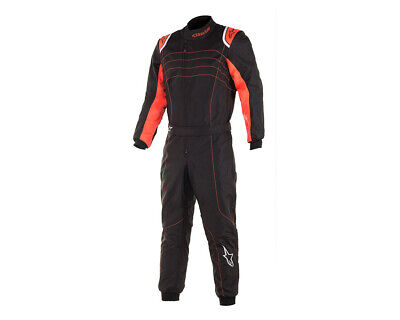 Alpinestars KMX-9 V2 S Kinder Kart Suit 2020 Level 2 Schwarz/Weiß oder Orange