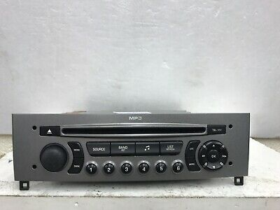 Peugeot 308 Siemens Vdo Car Stereo Radio Cd Mp3 Player Fully Decoded Silver Grey
