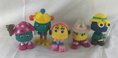 Vintage Funny Fry Friends Mcdonald's 1992 Happy Meal Toy Pieces - Complete Set
