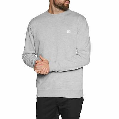 Dc Rebel Crew 3 Jumper Sweater Grey Heather All Sizes