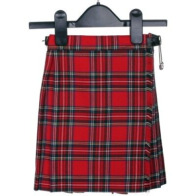 Girls Royal Stewart Tartan Scottish Kilt for Ages 2 - 14 Years New with Tags