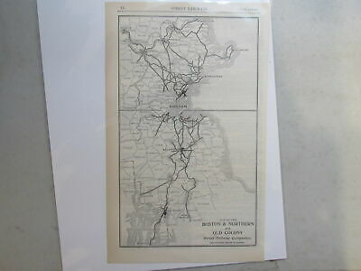 Original map of the Boston & Northern and Old Colony Street Railway ~ 1906