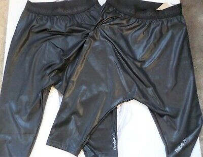 2 PAIRS REEBOK STUDIO DANCE/YOGA Leggings/Black JOG RUN GYM WORKOUT FIT-XS
