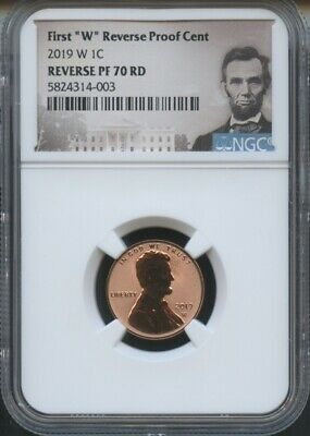 """Portrait 2019 W First /""""W/"""" Mint Mark Cent EARLY RELEASES NGC PF69 RD U.C"""