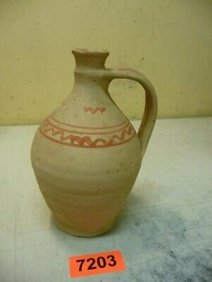 7203. Alte Tonflasche Ton Flasche old clay bottle