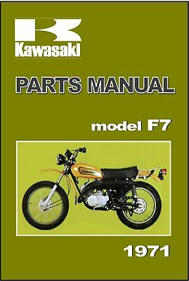 KAWASAKI Parts Manual F7 1971 Replacement Spares Catalog List