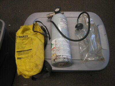 Transaire MSA 3000 PSI 10 Minute Breathing Apparatus Escape Rescue Cylinder Tank