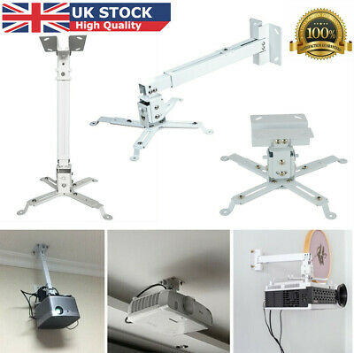 UK Universal Projector Ceiling Wall Mount Hanger Bracket Stand Holder Extendable