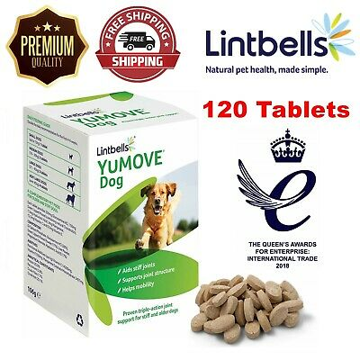 Lintbells Yumove Dog Joint Supplement For Stiff Old Dogs Aid Mobility 120 Tabs