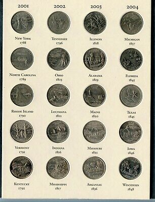 U.S. Fifty State Commemorative Quarters 1999-2008 Complete Set 50 Coins - RY425