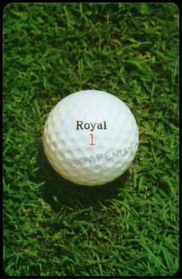 1970s UNIROYAL ROYAL GOLF BALL VINTAGE OLD SINGLE PLAYING SWAP COLLECTIBLE CARD
