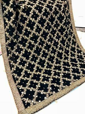 pakistani indian bridal velvet shawl dupatta Embroidery Bollywood Scarf