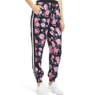 Kendall + Kylie Rose Floral Print Jogger Pants NWT Pink Small High Rise