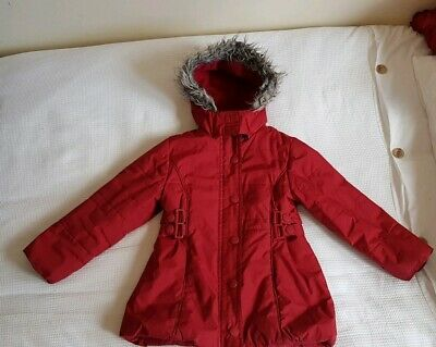 Sweet Millie Girls Red Padded Hooded Coat 5 Years