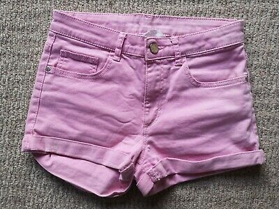 Older Girls Candy Pink Cotton H&M Denim Hot Pants Shorts Age 11-12
