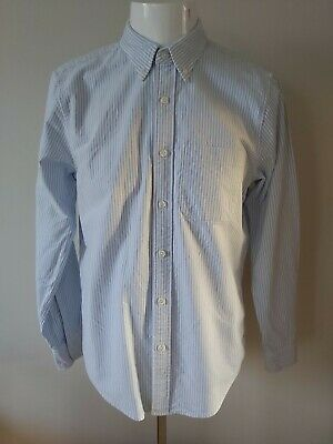 Mens blue & white striped long sleeve shirt size medium from Abercrombie & Fitch