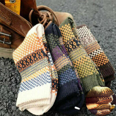 Winter 4 pair Men's Socks Casual Warm Wool  Cashmere Pairs Dress Thick Blend