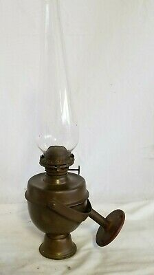 Antique Solid Brass Wilcox Crittenden Ship,Yacht Gimbal Oil Lamp,Chimney,Weight