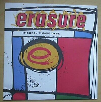 """Erasure It Doesn't Have To Be 12"""" P/S Uk"""
