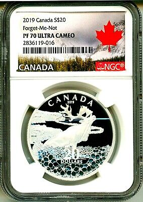 2019 Canada S$20 Forget-Me-Not NGC PF70 Ultra Cameo Includes Mint Box COA OGP
