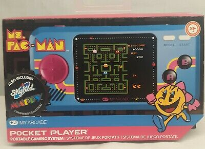 My Arcade Ms. Pac-Man Pocket Player Portable Gaming Device with SkyKid and Mappy