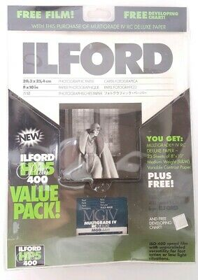 Ilford HP5 Plus 400 Value Pack 20 iv rc Deluxe Photographic Paper 2 Film Rolls