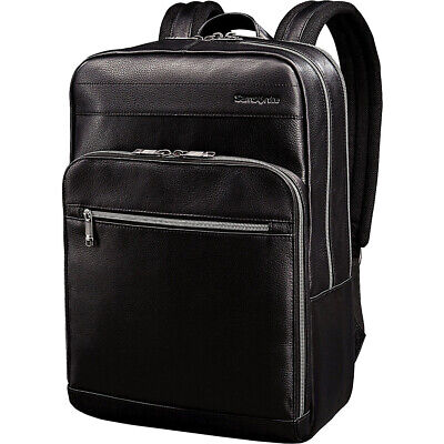 Samsonite Leather Slim Laptop Backpack 2 Colors Business & Laptop Backpack NEW