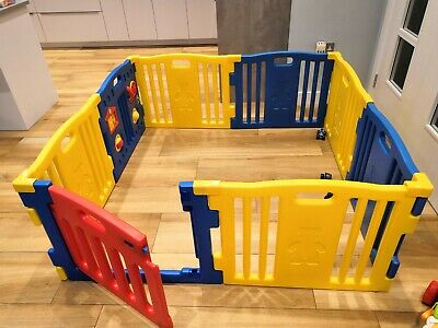 MCC® 8 Sides Large Foldable Plastic Baby Playpen /& Educational Functions Blue
