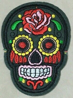 Parche Termoadhesivo | Calavera | Bordado | 55x76 mm | Patch